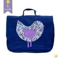 cartable-ecole-fille-petit-oiseau-violet