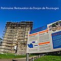Patrimoine: restauration du donjon de pouzauges
