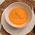 velouté de potiron et carotte