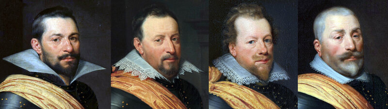 Portraits d'officiers hollandais circa 1611-1612
