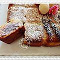 Gâteau yaourt lavande, rose et lychees....autre recette de l'atelier demarle du 25 juillet