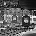 Deux automotrices AM96 belges quittant la gare de Lille-Flandres