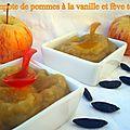 Compote de pommes à la vanille et fève tonka