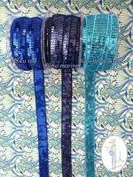 galon paillettes bleu