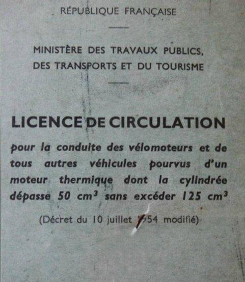 LicenceVelomoteur
