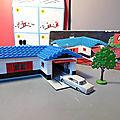 Lego, la boîte 324 (ou set 324) de 1964 ! un set lego pour s'initier à l'architecture avec en plus une mercedes lego...