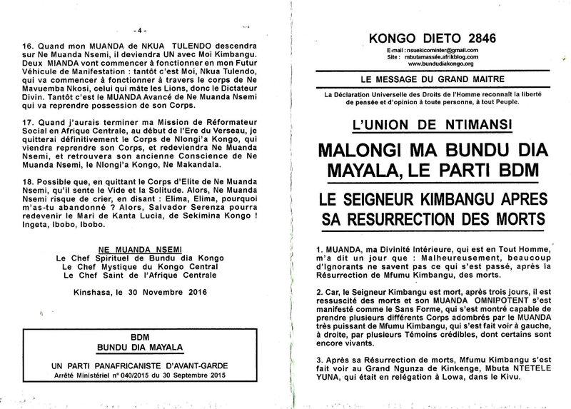 LE SEIGNEUR KIMBANGU APRES SA RESURRECTION DES MORTS Part 1 a