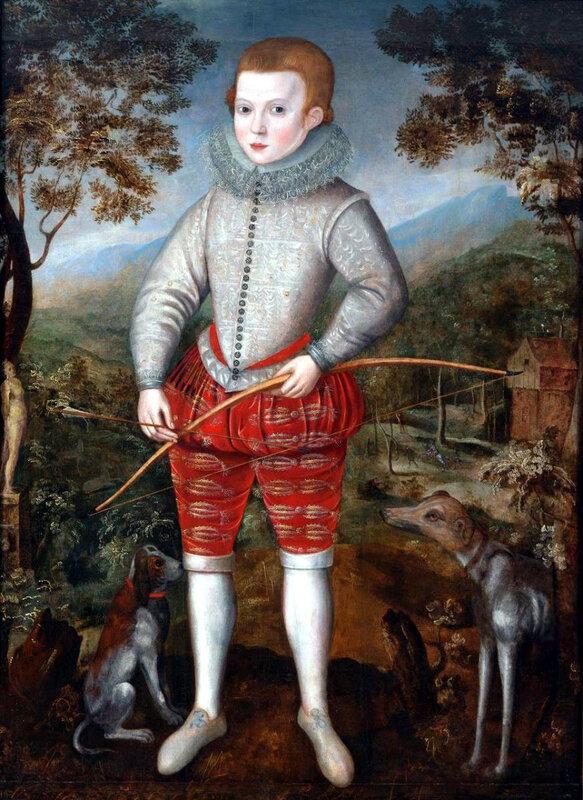 Portrait d'un garçon - 1596, Robert Peake