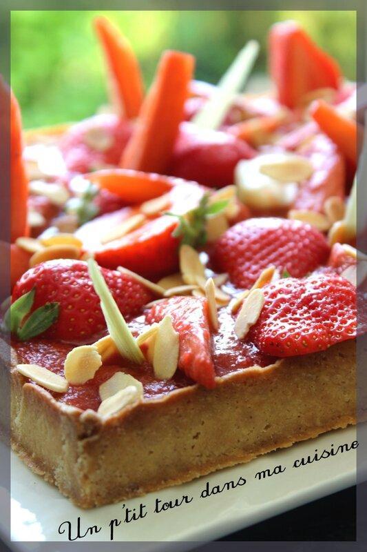 Tarte fraise rhubarbe5