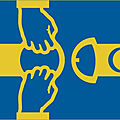 Swedish pro-migrant flag