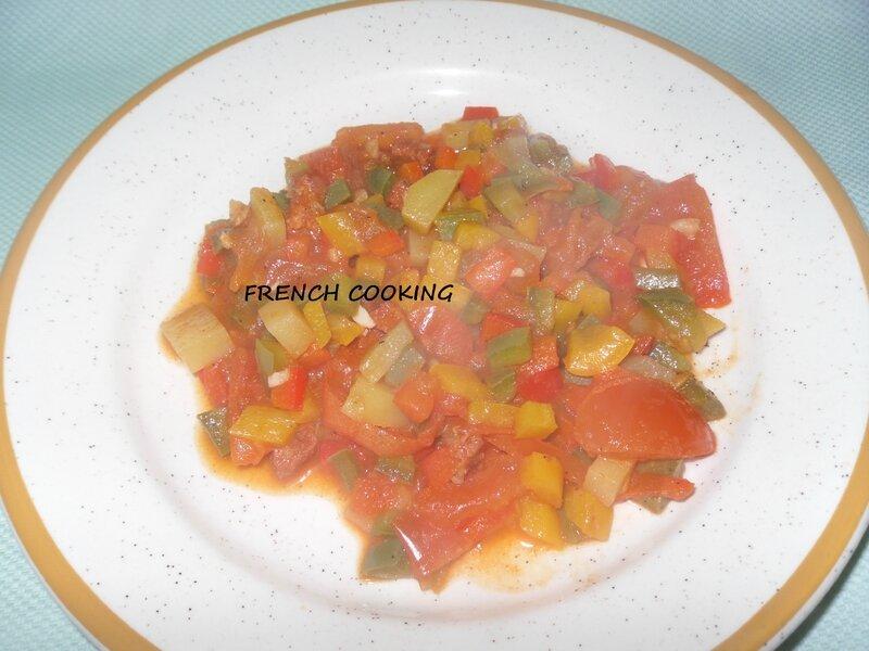 trio de poivrons aux tomates, pdt & chorizo 2