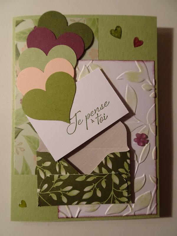 17g Carte Envolée de coeurs