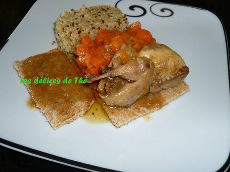 Caille sur canapé carottes quinoa boulghour (24)