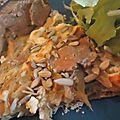 Tarte aux oignons provençale sur lit de sarrasin(vgr)