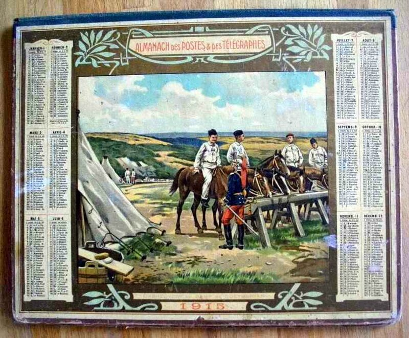 Calendrier 1915 hussards