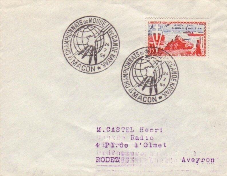 Timbre et enveloppe Macon 1954 webAIFCK