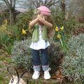 Louisa au jardin...