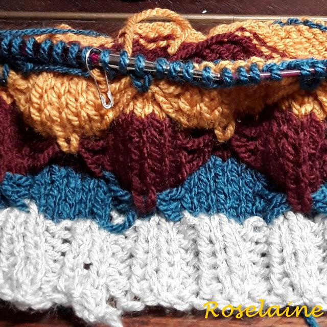 Roselaine Afternoon Delight Quickie Knit Cowl by Marly bird 2