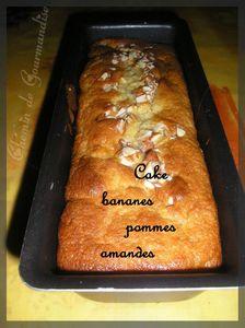 Cake banane pommes amande1