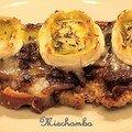 Tartines a la marmelade d'oignons et au chevre