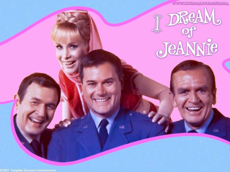 I dream of jeannie : Larry hagman, Barbara Eden