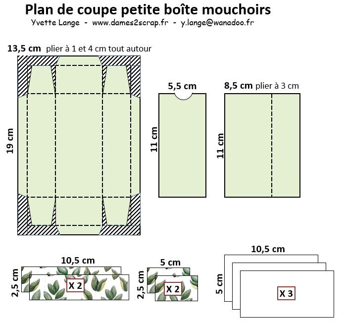 plan de coupe - boite à mouchoirs
