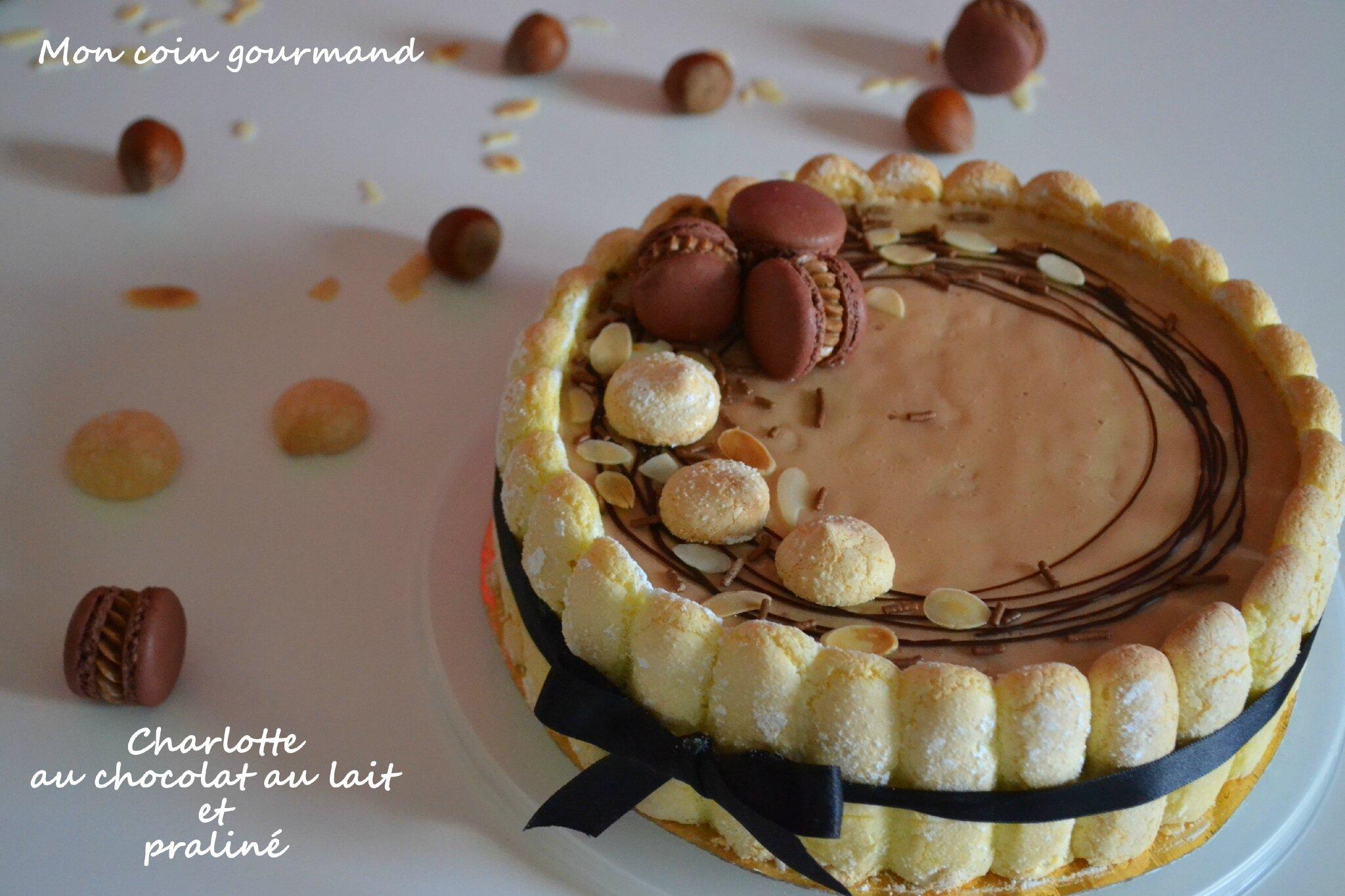 Recette Charlotte Au Chocolat Sans Oeuf charlotte au chocolat au lait-praliné - mon coin gourmand