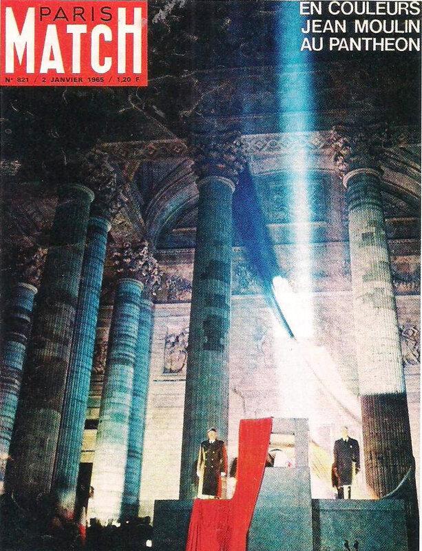 une mythe résistancialiste - Paris Match transfert cendre Jean Moulin Panthéon