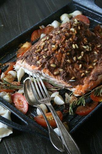 Saumon à la tapenade et pignons - Passion culinaire