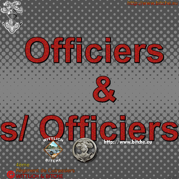 - officiers & sous Officiers du 4ème cuir