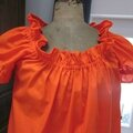 Robe ALBANE en coton orange (4)
