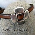 Et le dernier de la série tendresse et automne avec ce bracelet cuir marron et passant fleur !