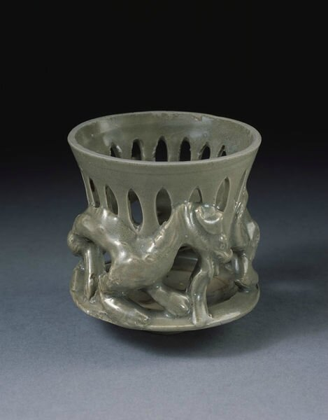 Incense burner, glazed stoneware, Yaozhou ware, China, Northern Song dynasty (1000-1127)