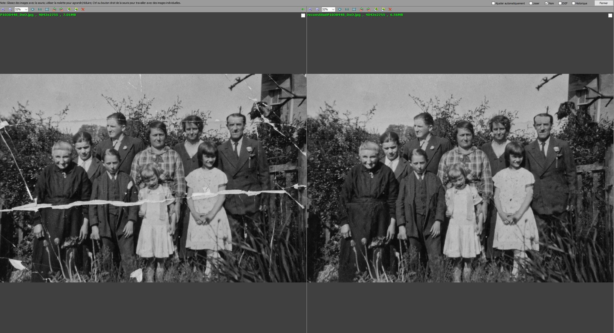 photo restaurée
