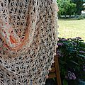 Crochet Flower of Life Chain Shawl 2