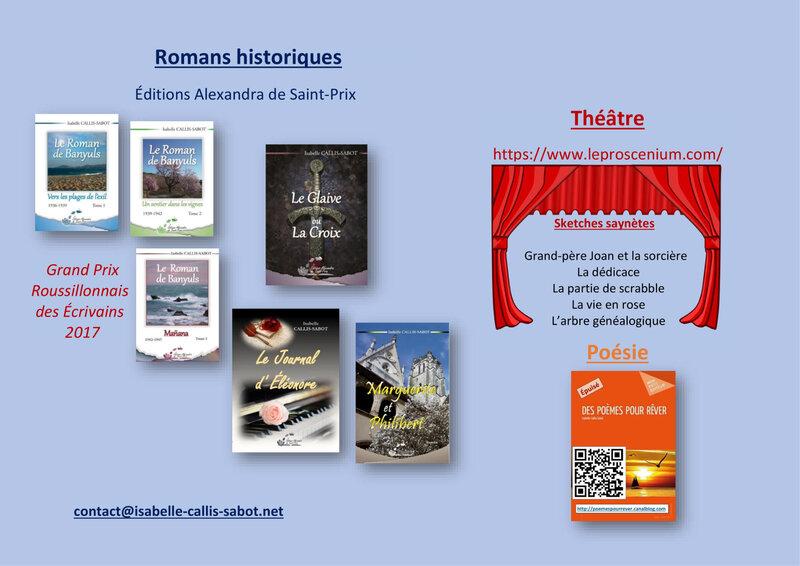 Isabelle CALLIS-SABOT romans - théâtre-poésie