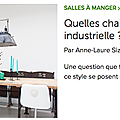 article AL Sizun pour Houzz: chaises table indus