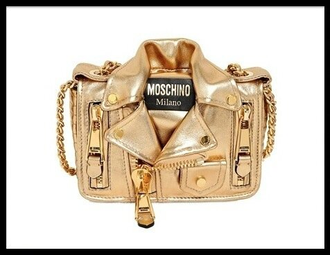 moschino sac biker or