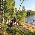 Puumala, sauna sur la berge du lac Koskenselkä