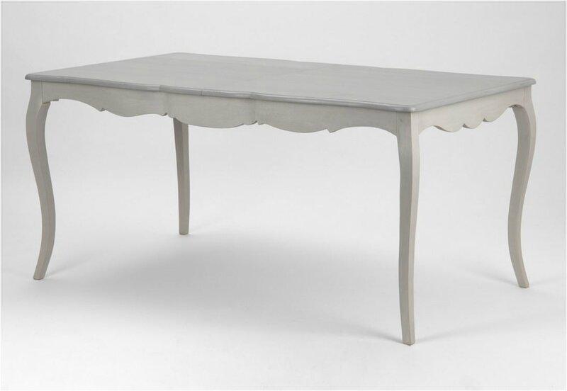 table à diner bois gris