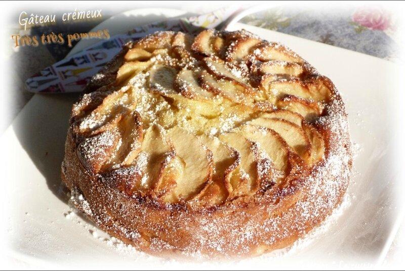 gâteau crème pommes4