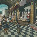 Ecole française du début du xviiie siècle, la visite du sultan au harem