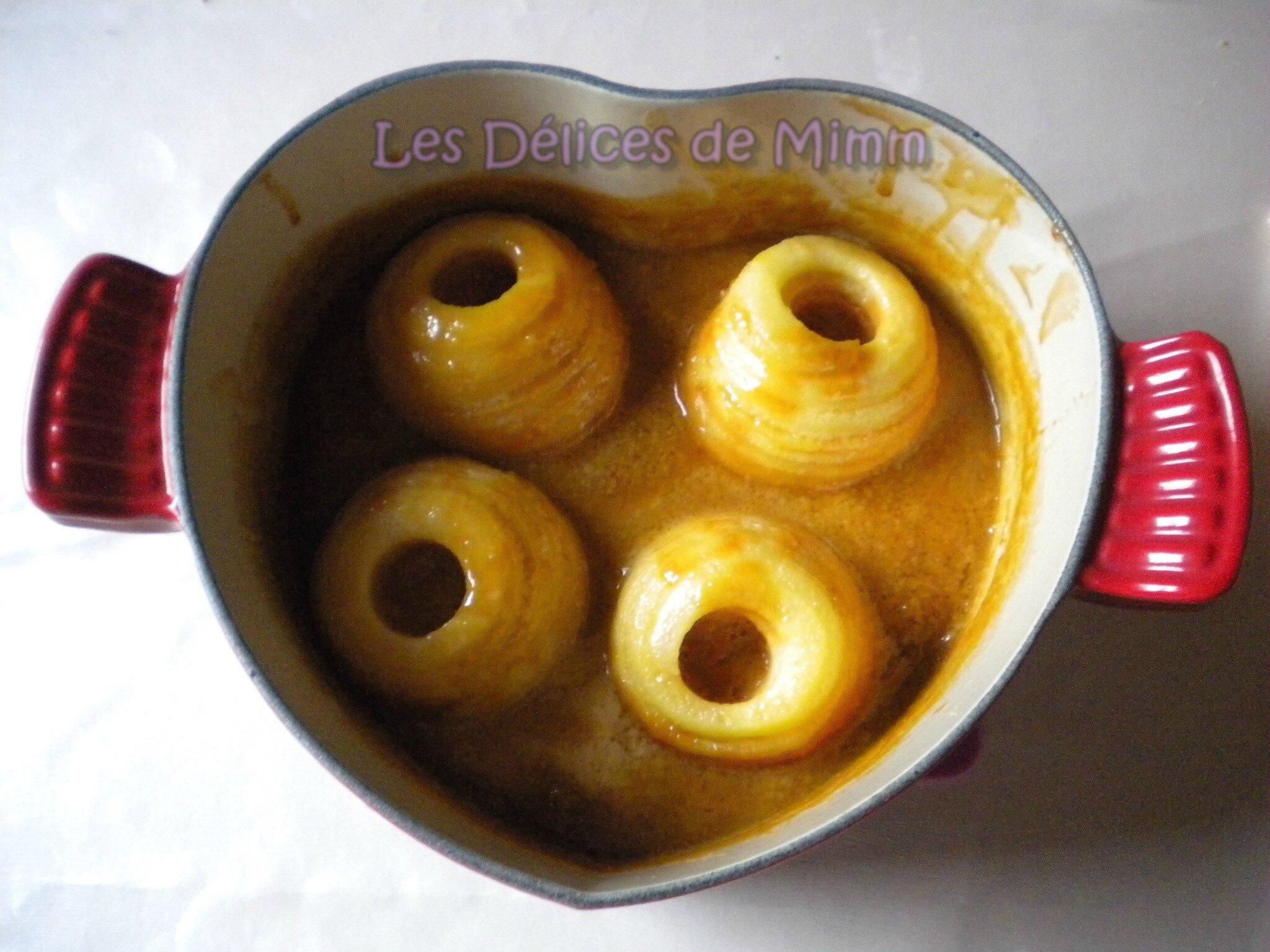 Pommes confites au caramel beurre salé