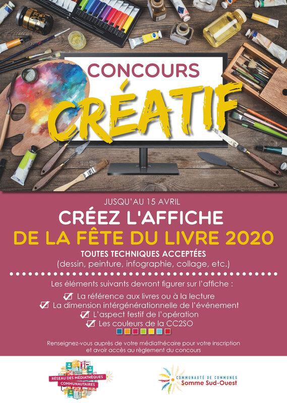 Affiche Concours Fête du Livre 2020