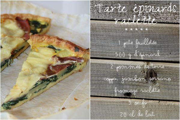Tarte épinards raclette1