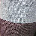 Manteau d'été bicolore en lin jeans et marine (4)