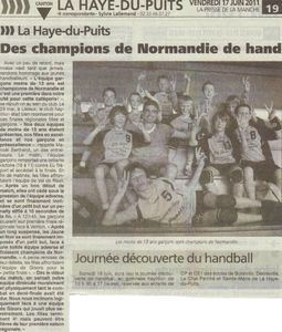 13 ans champion de Normandie