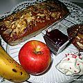 Cakes pommes/ bananes raisins secs à la liqueur de poire