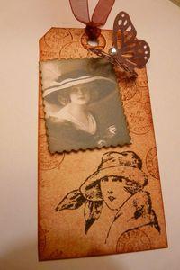 Tag femme au chapeau vintage