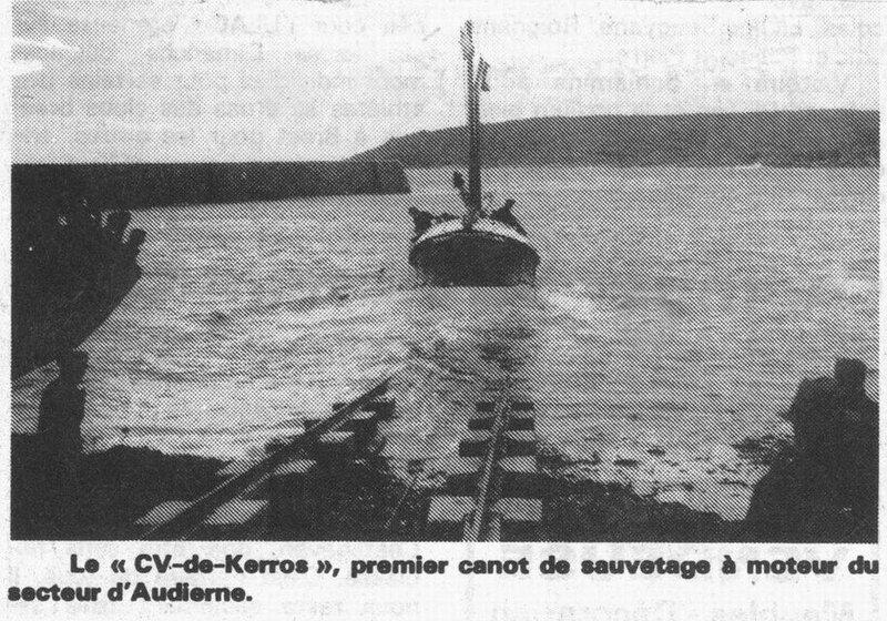CH14 -8- Inauguration du Bateau de sauvetage CV de Kerros - Mise à l'eau